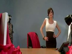 Brunette Milf gets tied up and used