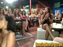 Latina gets Jizzed by Stripper in Front of Everyone