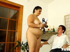 Beautiful lady with curves facesitting for BBW femdom video