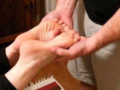 Reflexology massage turns arousal