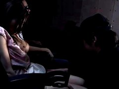 Japanese wife cheating in cinema cuckold