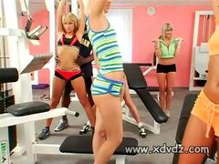 Nicely Built Black Guys Enjoy Training Amazing Girls...