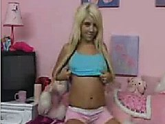 Blond Teen Play on Web Cam