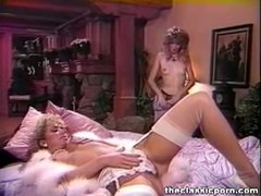 Cheating wife plays with lady friend