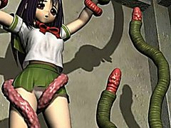 3d hentai caught by tentacles and fucked by monster