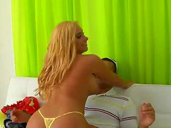 Attractive blonde whore Vanessa with big
