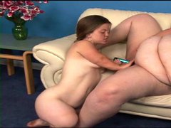 Midget and obese mature lesbian play