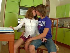 Young and really hot brunette teen