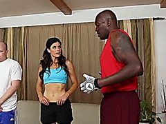 India Summers cuckold watches her dick dipped