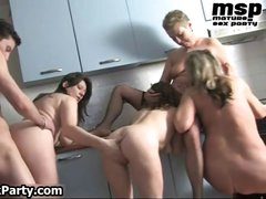 Three horny mature housewifes part5