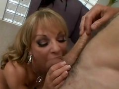Hot MILF Shayla LaVeaux strips to suck and fuck this hard cock