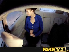 FakeTaxi Customer pays with her pussy when she cant afford the fare