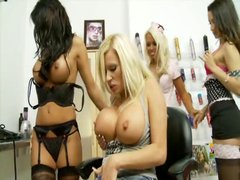 Michelle Thorne has two of her friends over for some hot pussy