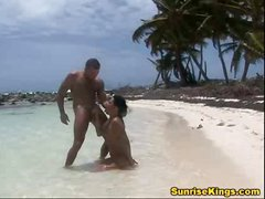 Caribbean babes show why there's more fun in the sun on the beach