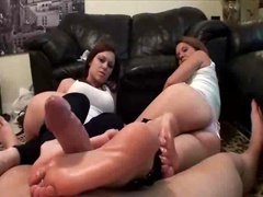 Mother Daughter Footjob