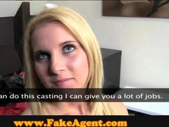 FakeAgent 18 year old blonde takes first time facial