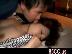 wife fucked by husbands friend on the bed 04