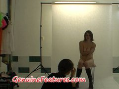 Sexy czech brunette takes you backstage
