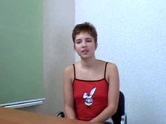 Short haired teen daphnie interview