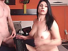 Busty Wife Sucks Cock and gets Fucked