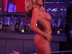 Busty blonde puts on a hell of a show