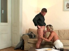 Slutty mother-in-law rides her daughter's husband