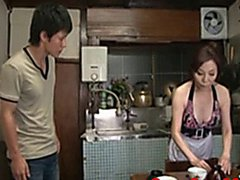 The 60-year old Japanese mom lick anus and got fucked hard