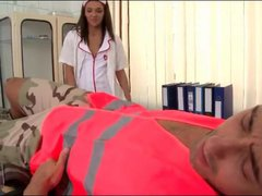 Nurse Alexis Brill sucks his dick lustily