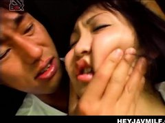 Japanese mom kidnapped by horny dude and fucked in a van