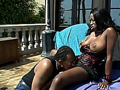 Yummy Ebony With Big Tits Pounded