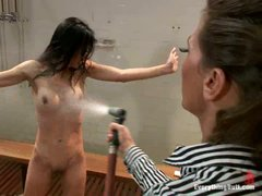 Baked asian Tia Ling gets her asshole tortured in the