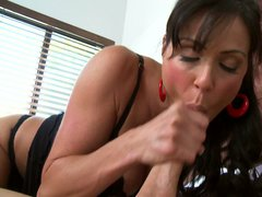 Stacked milf in stockings Kendra Lust is Johnny Sins' personal