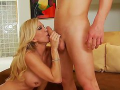 Amber Lynn woke up her son