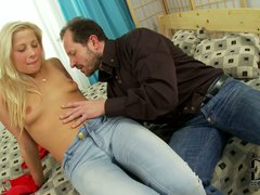 Candy Love is a European newbie with small tits and