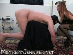 Mistress emily derives pleasure from his pain