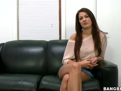 This casting video features lovely dark haired girl Kelsey Jones.