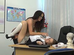Student girl Eufrat gets used by