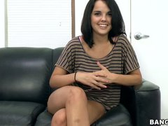 Black haired newbie Dillon Harper is ready to do her