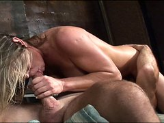 MILF slut uses her mouth and big tits to make this dick hard