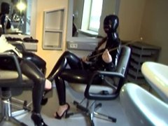 German babes in latex engage in bizarre sex play