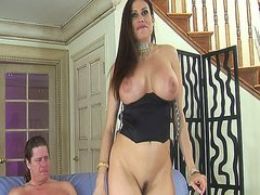 Brunette latina with big tits gets her asshole drilled hard