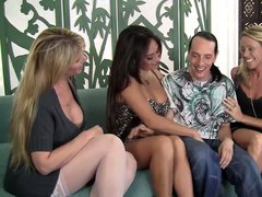There are three dick hungry MILFs Nikki Charm, Claudia Valentine