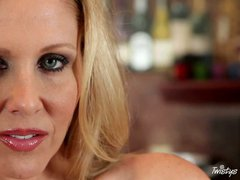 Blonde woman Julia Ann is a big titty milf Julia