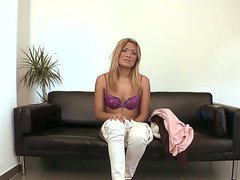 Blonde tempting beauty Kazzandra z is