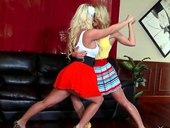 Cherie Deville dances with her lesbian