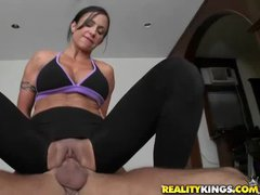Slim milf Jewels Jade and her friends humiliate the yoga