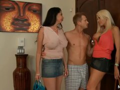 Two milfs, Michelle McLaren and Nadia Night, both with big