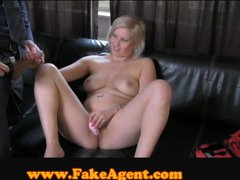 FakeAgent Busty blonde with Super tight pussy