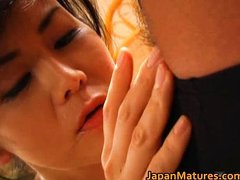 Horny japanese mature babe