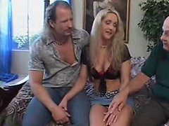 Interracial Swinger Wife Threesome, Hubby Likes